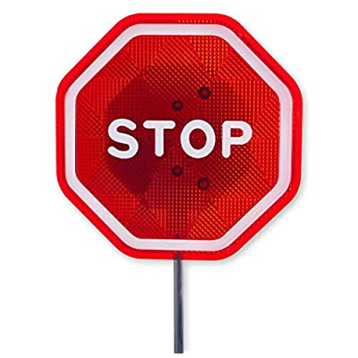 Andalus Brands Flashing LED Stop Sign Garage Parking Assistant System | Bumper Sensor,Red (1 Pack): Automotive