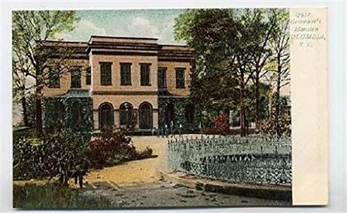 Governor's Mansion Postcard Columbia South Carolina 1900's