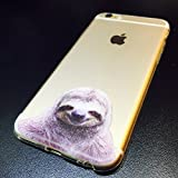 iPhone 8 Plus / iPhone 7 Plus , Colorful Rubber Flexible Silicone Case Bumper for Apple Clear Cover - cheery sloth