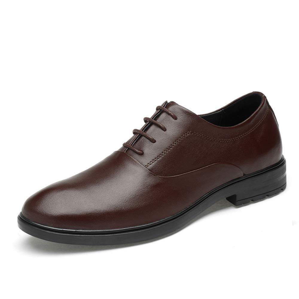 Ruanyi Business Oxford, Casual Einfache Klassische Einfarbig Formelle Schuhe (Slip On Optional) Für Männer (Farbe   Braun, Größe   39 EU)