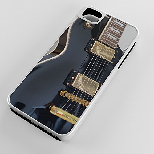 iPhone Case Fits Apple iPhone SE 5s 5 Hybrid Tough Case Black Electric Guitar Solo Getting Band Back Together White Plastic Black Rubber by TYD Designs