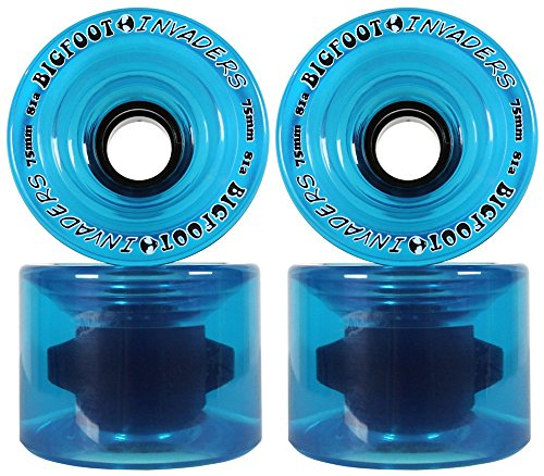 Bigfoot Longboard Wheels 75Mm 81A Invaders Blue Offset Downhill/Freeride