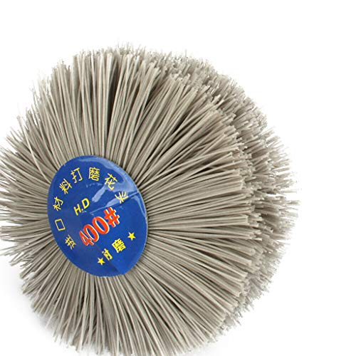 - 6mm Shank 80mm Dia Head 80#,120#,180#,240#,320#,400#,600# Grit Abrasive Nylon Wheel Brush Woodwork Polish Grinder Tool (400#)