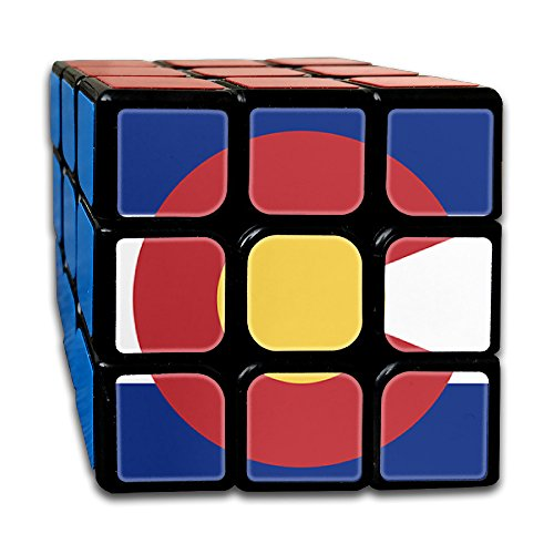 ColorSee Colorado Flag Rubik's Cube 3x3 Brain Training Game Magic Cube For Kids Or Adults With New Durable - Australia Stores Colorado