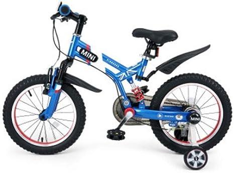 Xiaoping Bicicleta de 16 Pulgadas con Ruedas de Entrenamiento Bicicleta de los niños con Pata de Cabra Niños Niñas Bicicletas (Azul Rojo) (Color : 2): Amazon.es: Deportes y aire libre