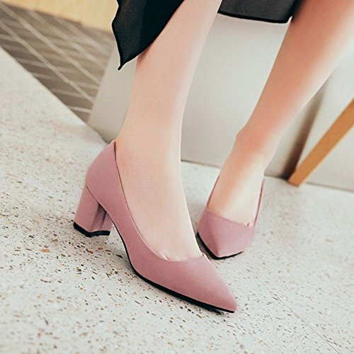Court Pointed Women Pink Shoes Toe 6CM RAZAMAZA StUqRwzWU