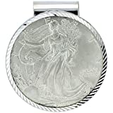Sterling Silver Eagle Money Clip 1 oz Coin Included