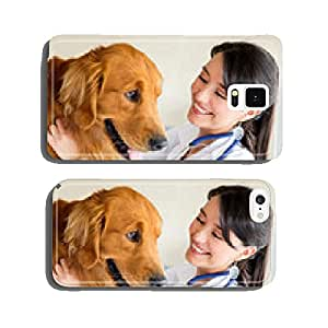 Vet examining a dog cell phone cover case Samsung S6