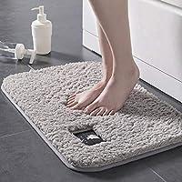 CHOUREN 40 * 60cm Bathroom Carpet Water Absorption Rug Shaggy Memory Foam Bathroom Mat Kitchen Floor (Color : Blue)