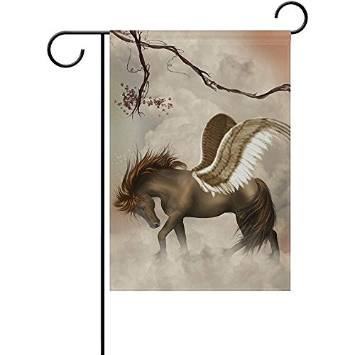 - Beigehome Garden Flag Double Sided 12 X 18 Inches Horse Pegasus Sky Polyester Seasonal Flags Holiday Decorative Outdoor House Flag