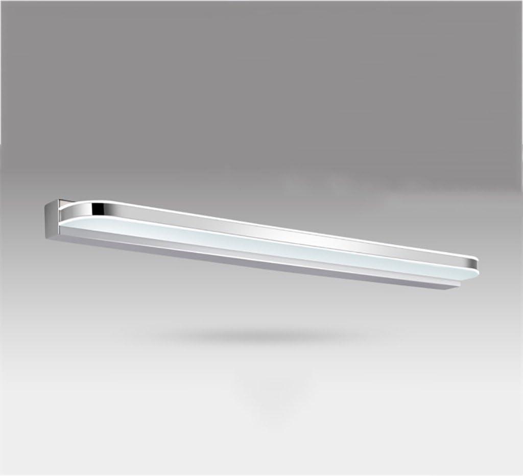 Beleuchtung LED-Spiegel-vordere Lichter, wasserdichte Anti-fog Badezimmer-Spiegel-Lampen-Wand-Lampe europäische einfache moderne Spiegel-Kabinett-Lichter führte Lichter ( Farbe : Weiß-60cm LED 10w ) Weiß-80cm LED15w