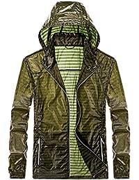 Men's Lightweight UV Protect Coat Skin Jacket Windproof Hooded Quick Dry Packable Jacket