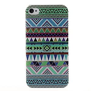 ZCL Green National Style Abstract Geometric Seamless Pattern Plastic Hard Case for iPhone 4/4S