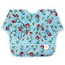 Bumkins Waterproof Easy Wipe Sleeved Bib - Disney (Ariel)