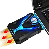Aolvo Gaming Laptop Cooler Cooling Pad, Laptop Vacuum Cooler Fan with 4 Size Silicone Cap for Most Brand Laptop, Super Fast Cool Up to 30 Celsius, USB Powered, Wind Control, Low Noise CPU Cooler