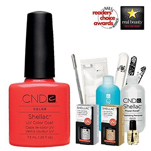 Cnd Shellac Usa Starter Kit - Tropix Colour Starter Kit - Top & Base Coat + Essentials