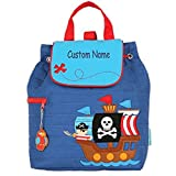 : Personalized Stephen Joseph Pirate Ship Embroidered Backpack, CUSTOM NAME