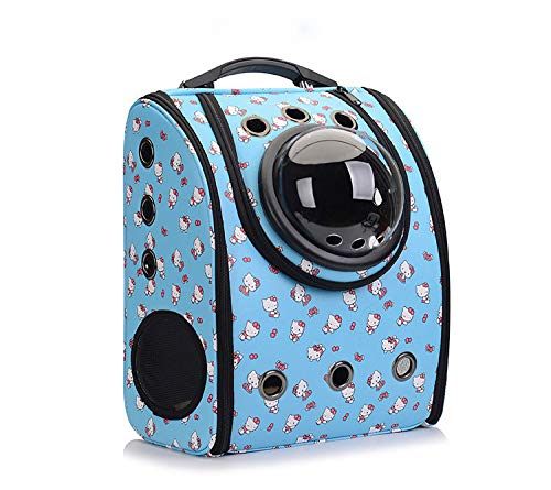 bluee Pet Backpack,Foldable Breathable Pet Backpack Waterproof and Wearable Dog Pet Travel Bag