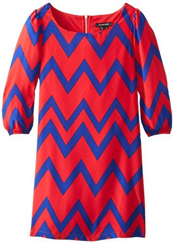 My Michelle Big Girls' Printed Sheath Dress, Red Multi, 8