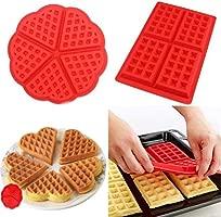 5 cavidades de silicona Waffle Mold, corazón waffle chocolate ...