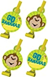 Creative Converting Monkeyin' Around Birthday Party Blowouts, 8 Favors Per Package