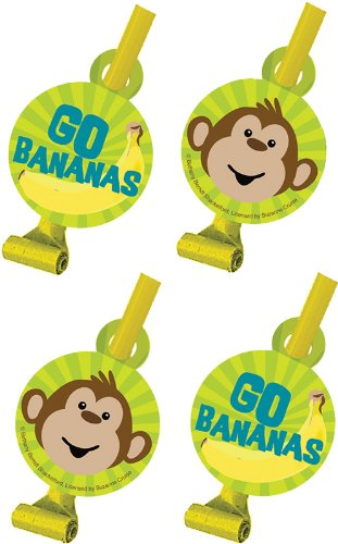 8-Count Birthday Party Blowouts, Monkeyin' Around