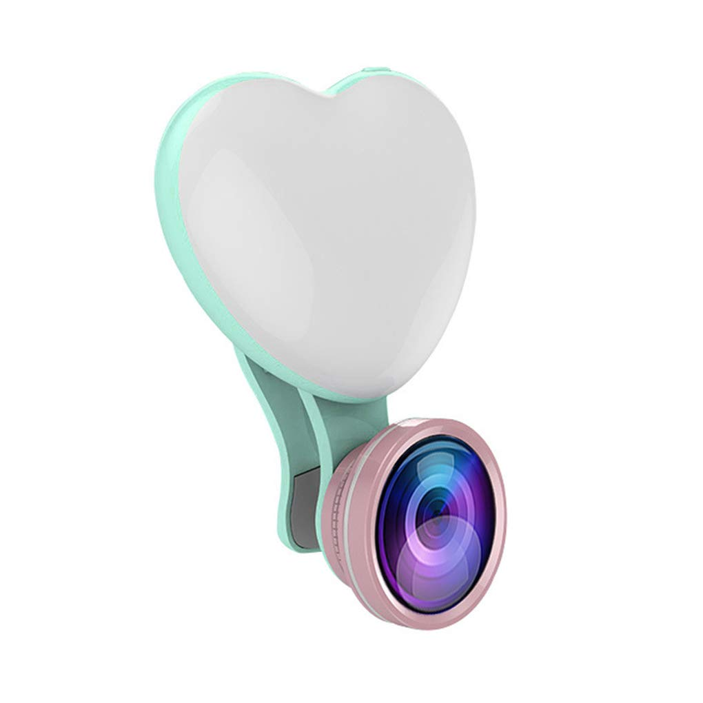 Tel/éfono m/óvil Selfie Luz del coraz/ón en Forma de Amar Sesi/ón Foto Spotlight LED con Clip Tipo de Lente de luz de l/ámpara