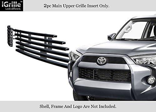 APS Compatible with 2014-2020 Toyota 4Runner Regular Model Black Bumper Stainless Billet Grille T65978J