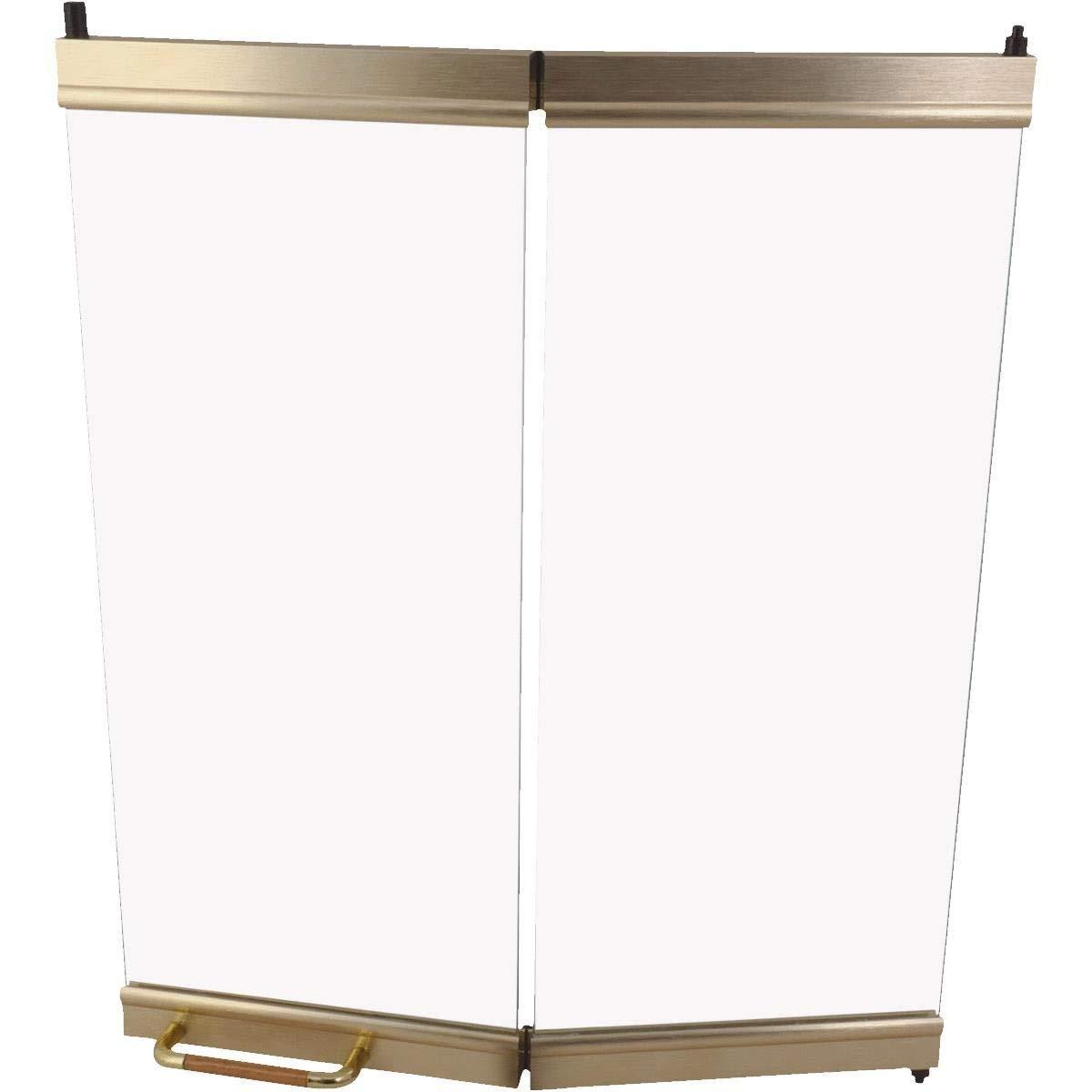 Comfort Flame BDB36B Wood Burning Aluminum Bi-Fold Door, 36-Inch, Brushed Brass by Comfort Flame