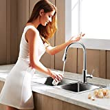 Kitchen Faucet TOMZONE Single Handle Touch on Kitchen Sink Faucets with Pull-out Sprayer Head Spot Resist Stainless Faucets