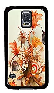 Samsung Galaxy S5 awesome covers Abstract Flowers 1 PC Black Custom Samsung Galaxy S5 Case Cover
