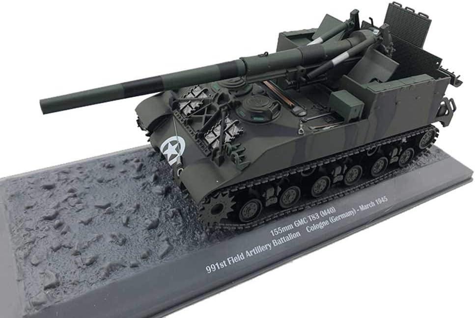 CMO Maqueta Tanque de Guerra, 155Mm GMC T83 Gun Motor Carruaje M40 USA 1945 Metal Militares Escala 1/43, Juguetes y Regalos, 8,7 X 2,9 Pulgadas