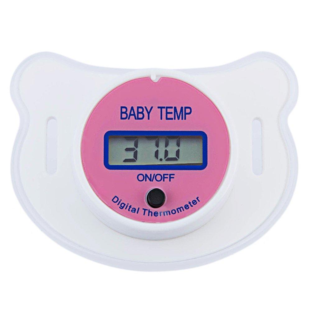 Chupete de boca para bebés, termómetro digital de pezón, termómetro Testa Termometro, chupete de bebé, pantalla LCD, digital, portátil,: Amazon.es: Bebé