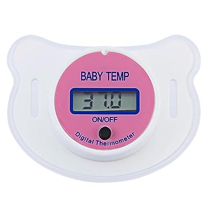 Chupete de boca para bebés, termómetro digital de pezón, termómetro Testa Termometro, chupete