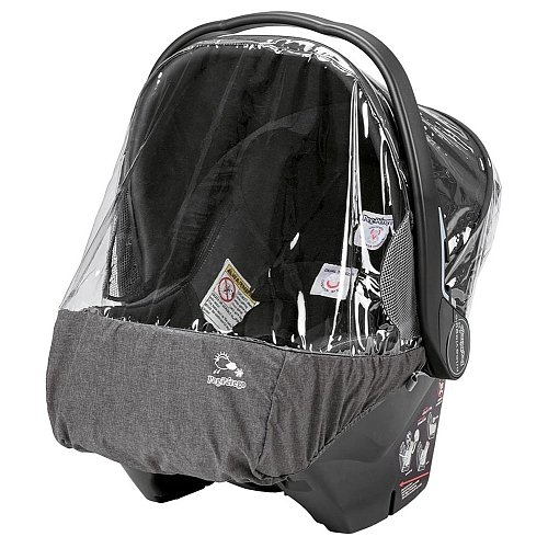 Peg Perego Travel Bag - Peg Perego Primo Viaggio Rain Cover, Clear with Light Grey