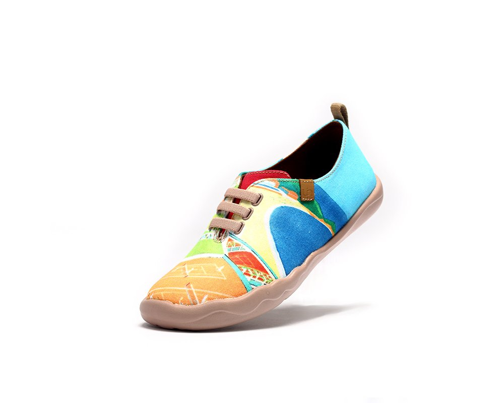 UIN Women's Match Point Colorful Canvas Shoes Multicolor (6)