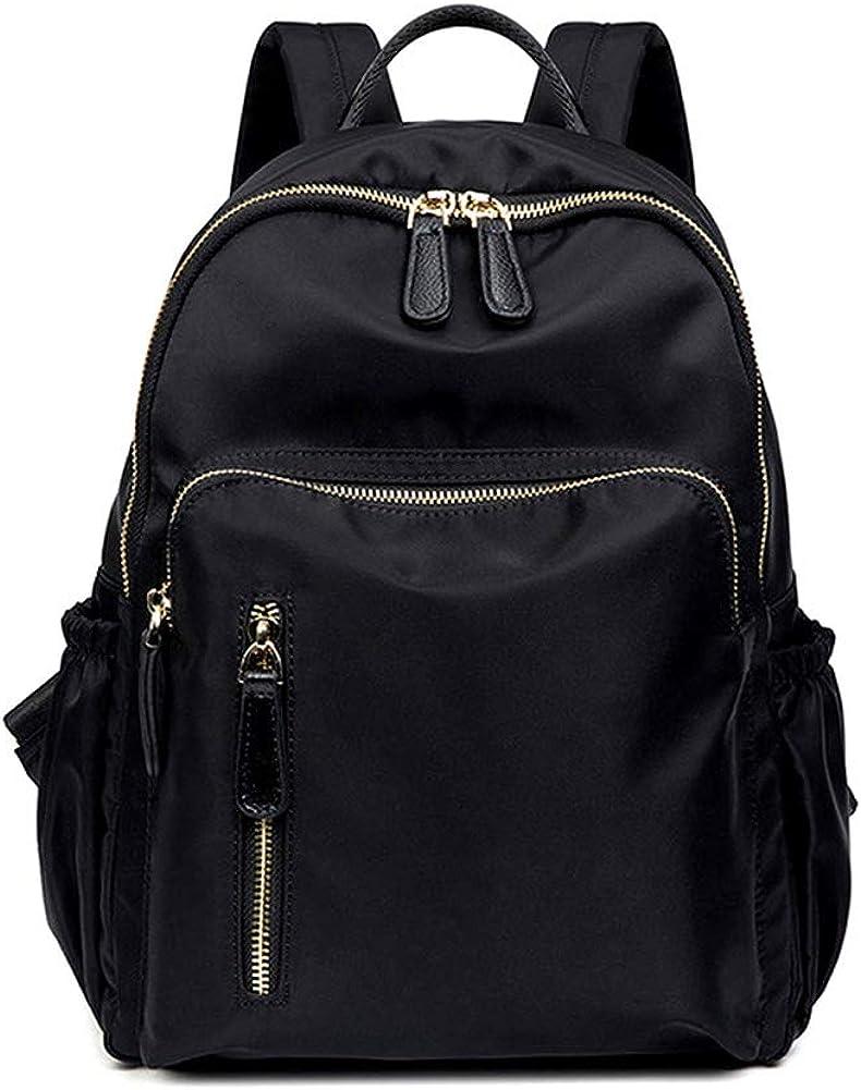 Women Classic Waterproof Nylon Anti Theft Backpack Purse Fashion Travel Safe Lightweight Shoulder Bag