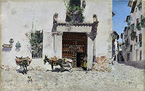 Oil Painting 'Rico Y Ortega Martin Puerta De Una Casa En Toledo 1875 78 ' Printing On High Quality Polyster Canvas , 30 X 48 Inch / 76 X 122 Cm ,the Best Game Room Decor And Home Decor And Gifts Is This Reproductions Art Decorative Canvas Prints