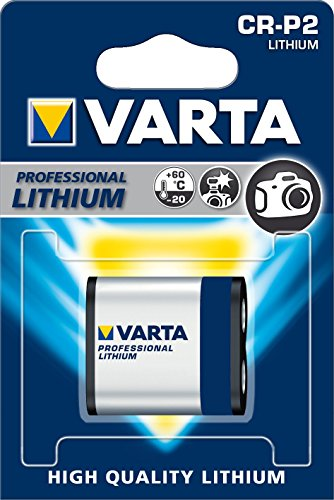 Crp2 Digital Camera Battery (Varta Professional Litium CR-P2 6V Battery 6204)