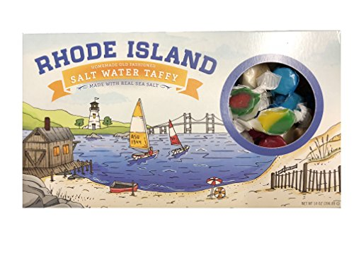 - Rhode Island Old Fashioned Homemade Copper Kettle Batch Saltwater Taffy 20 Flavor Gift Box (Made with Real Sea Salt)