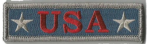 U.S.A. Tactical Morale Patch - Subdued Silver