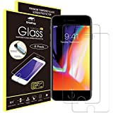 iPhone 7 Screen Protector, GradCap Tempered Glass iPhone 6/6S/7/8, Case Friendly, Easy Installation (2-Pack), HD Crystal Clear Protective Film