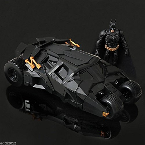 [DC The Dark Knight BATMAN BATMOBILE Tumbler BLACK CAR Vehecle Toys With Figure] (Frank Miller Batman Costume)