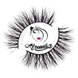 Mink Eyelashes by Afromika Crisscross Natural Cute Look Handmade Flexible Band For Makeup 1 Pair Pack in Style Didyma