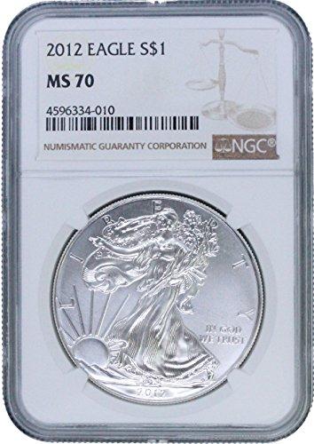2012 American Silver Eagle $1 MS70 -