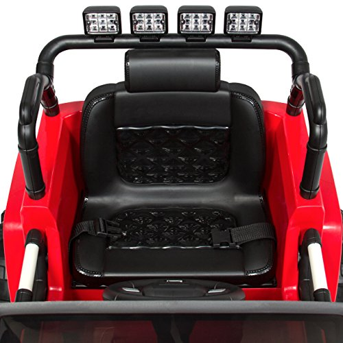 51V8fc6Q7eL - Best Choice Products 12V Ride On Car Truck w/ Remote Control, 3 Speeds, Spring Suspension, LED Light - Red