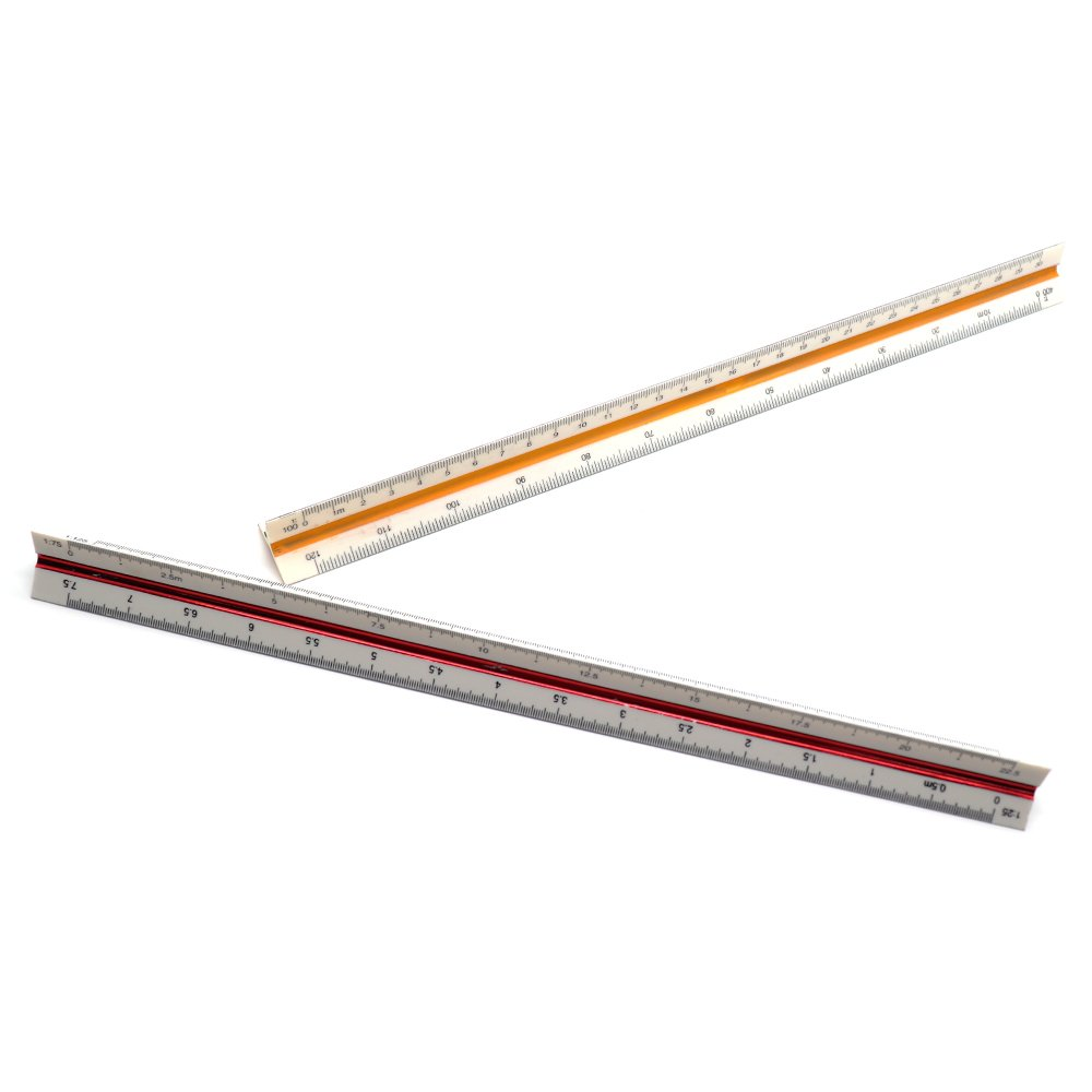 500 Architect Scale and Engineer Scale Set LDEXIN 2Pcs Triangular Architect Scale Rulers Including 1:20 to 1:100 and 1:100 to 1