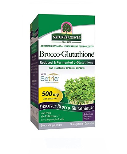 Nature's Answer Brocco Glutathione, 60 Count Vegetarian Capsules - Made with Organic Broccoli Sprouts