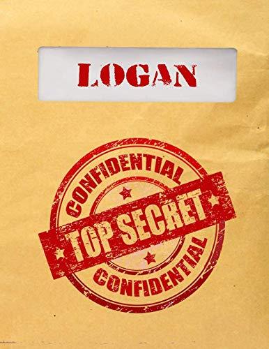 Logan Top Secret Confidential: Composition Notebook For Boys (Top Ten Best Puns)