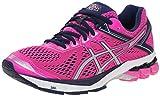 ASICS Women's Gt-1000 4 Running Shoe, Pink Glow/Silver/Indigo Blue, 8.5 M US
